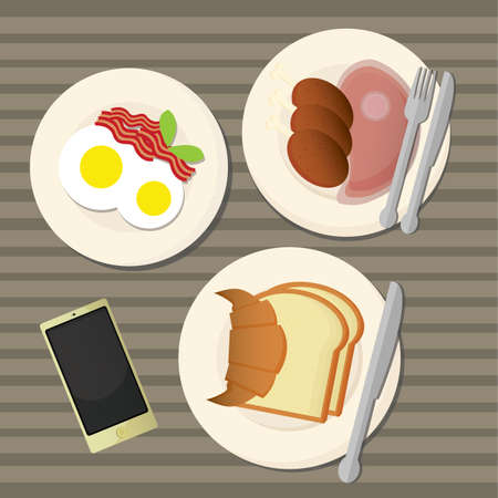 boiled: breakfast table Illustration