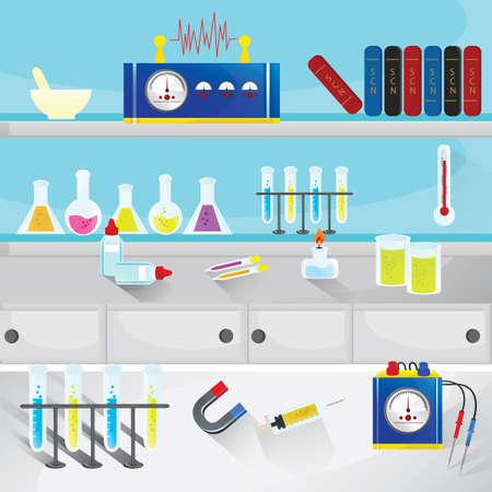 book racks: lab Illustration