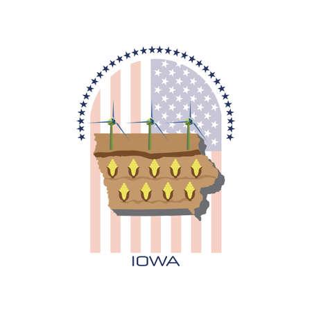 iowa: map of iowa state