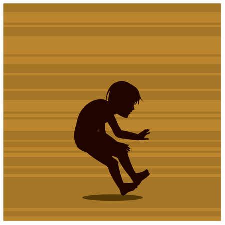 bending: silhouette of boy bending