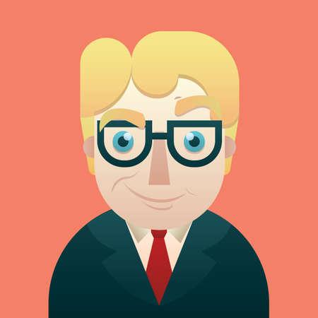 smug: businessman with smug expression Illustration
