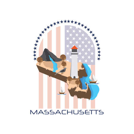 chickadee: map of massachusetts state