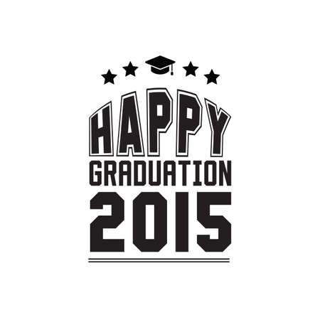 two thousand: happy graduation 2015 poster Illustration