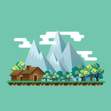 mountain landscape Stock Illustratie