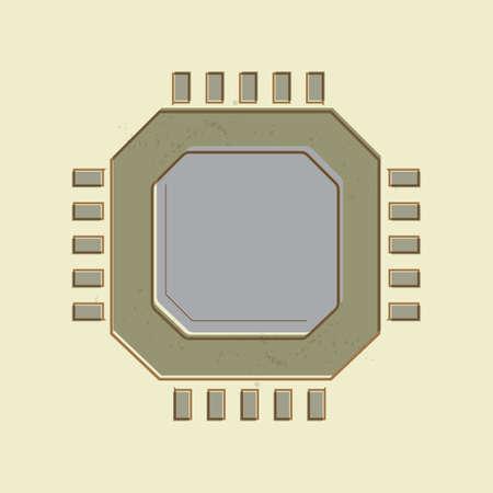 micro chip: micro processor
