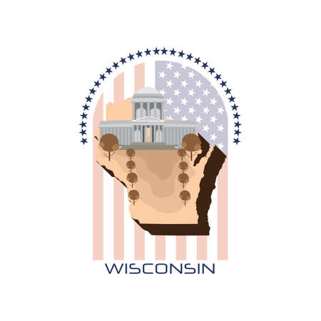 wisconsin state: map of wisconsin state