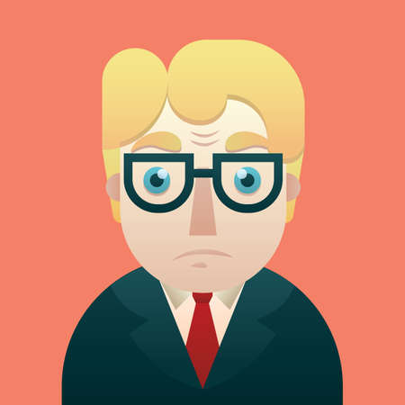 stunned: stunned businessman Illustration