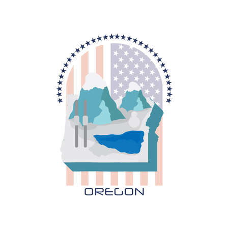 state of oregon: map of oregon state