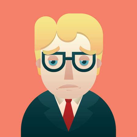tired: tired businessman Illustration
