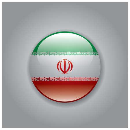 national identity: iran flag Illustration