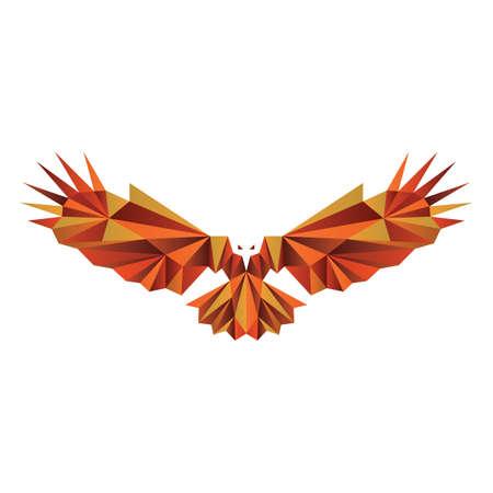 faceted: faceted eagle Illustration