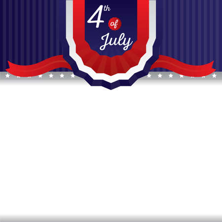 fourth of july: fourth of july card Illustration