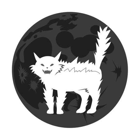frightened: frightened cat Illustration