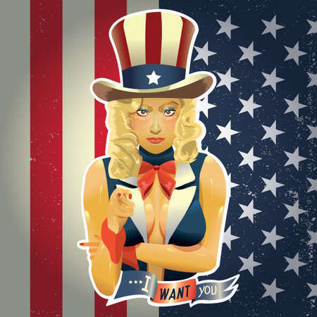 sam: woman in uncle sam suit