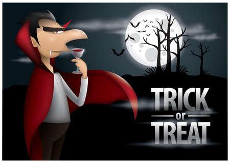 treats: truco o cartel de Halloween Vectores