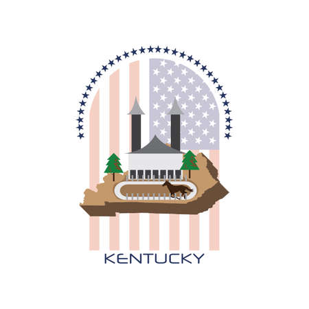 kentucky: map of kentucky state