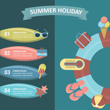 summer holiday: summer holiday infographic