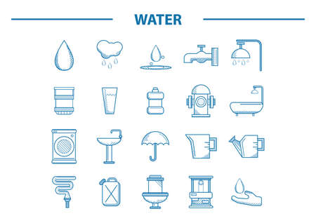 pulley: water related icons set