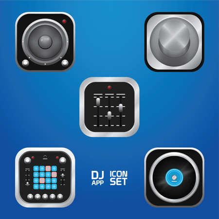 Music icons. 向量圖像