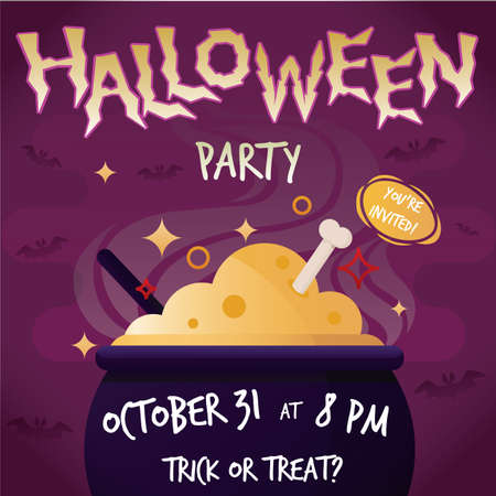 october 31: halloween party poster Illustration