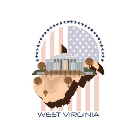 west virginia trees: map of west virginia state
