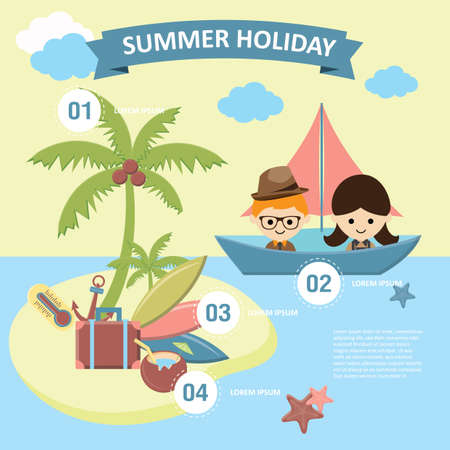 summer holiday infographic