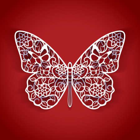 butterfly cutout