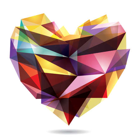 geometrical: geometrical heart shape