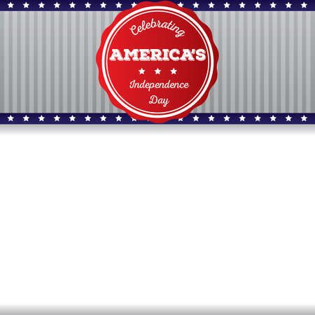 the americas: celebrating americas independence day card Illustration