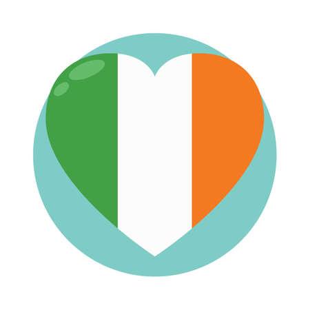 bandera de irlanda: bandera de irlanda en forma de coraz�n