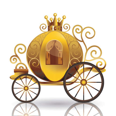 chariot: golden carriage Illustration