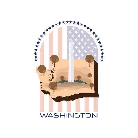 washington monument: map of washington state