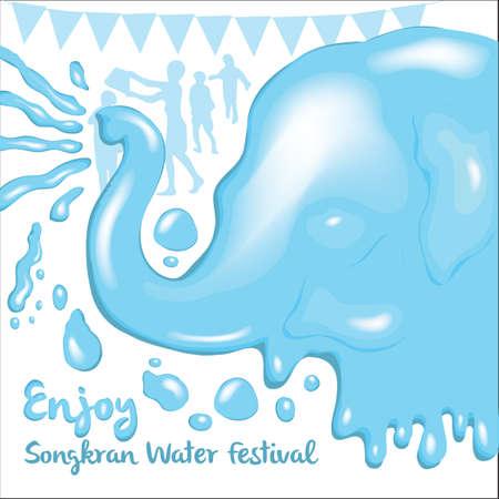 songkran: songkran water festival background design
