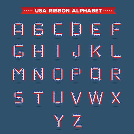 s c u b a: set of usa ribbon alphabets
