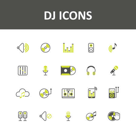 high volume: dj icons Illustration