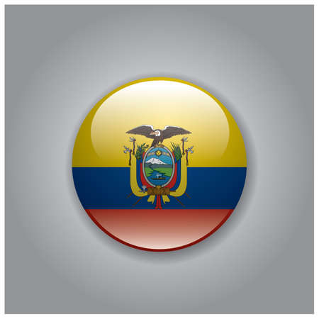 national identity: ecuador flag Illustration