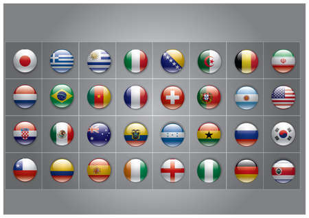 collection of country flags Vectores
