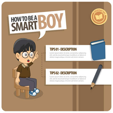 smart boy: infographic of a smart boy