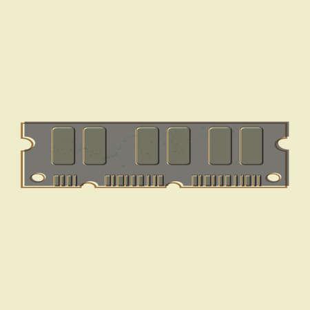 component parts: computer ram Illustration