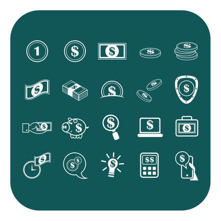 sheild: money icons