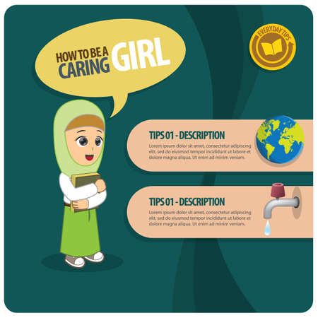 caring: infographic of a caring girl