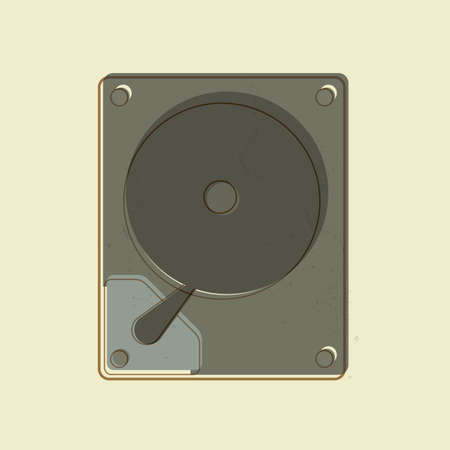 hard: hard disc Illustration