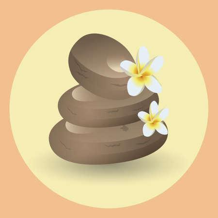 zen stones: zen stones and flowers Illustration