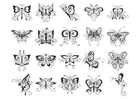Tatouage de papillon jeu Banque d'images - 53275457