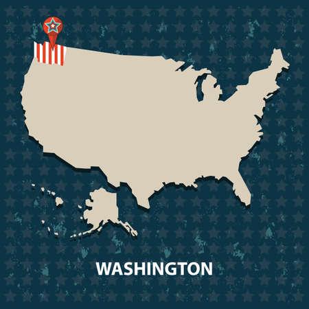 washington state: washington state on the map of usa