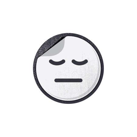 eyes closed: emoticon with eyes closed Illustration