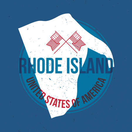 island state: map of rhode island state label