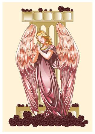 praying angel: praying angel Illustration