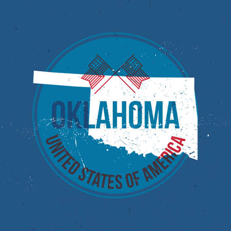 oklahoma: map of oklahoma state label