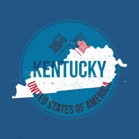 kentucky: map of kentucky state label